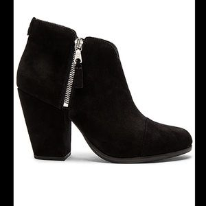 Rag and Bone Black Suede Margot Booties Size 36